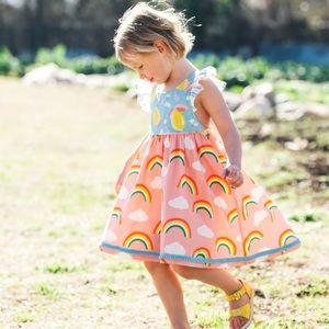 Size 8 Wildflowers Clothing Rainbow Brite Dress